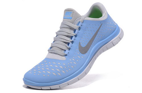 Nike Free Run 3.0 V4 Womens Blue Grey Greece